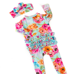 TESSA BAMBOO ZIPPERED ROMPER