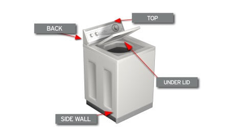 Washing Machine Top Load Model Number Location