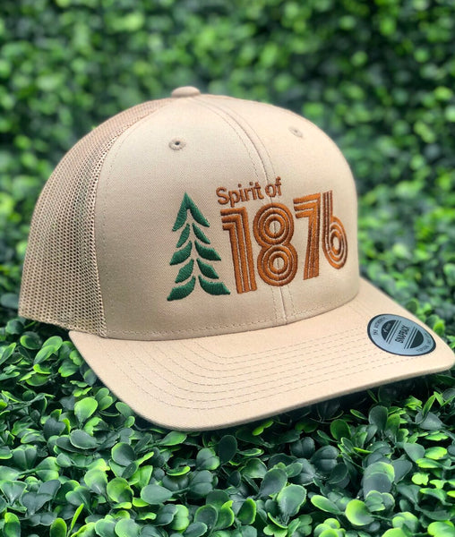 Spirit of 1876 Low Profile Curved Bill Snapback Logo Trucker