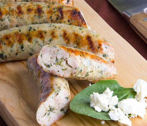 Spinach and Feta Chicken Sausages
