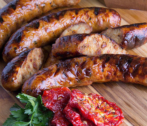 Sun Dried Tomato Chicken Sausages