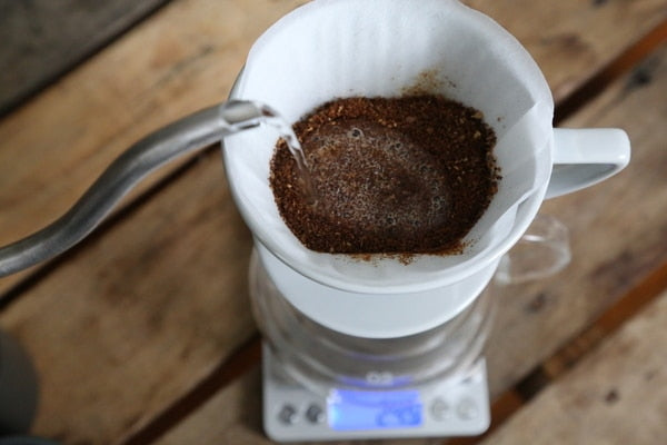 For pour overs like this one, and manual brewers, use the 1:17 ratio.