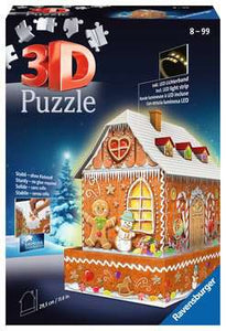 Gingerbread House 3D Puzzle, 216pc