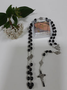 Black Wood Rosary beads