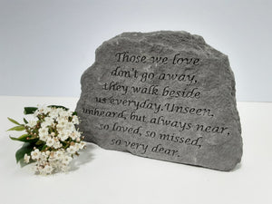"Stone Remembrance Plaque ""Those we love..."""