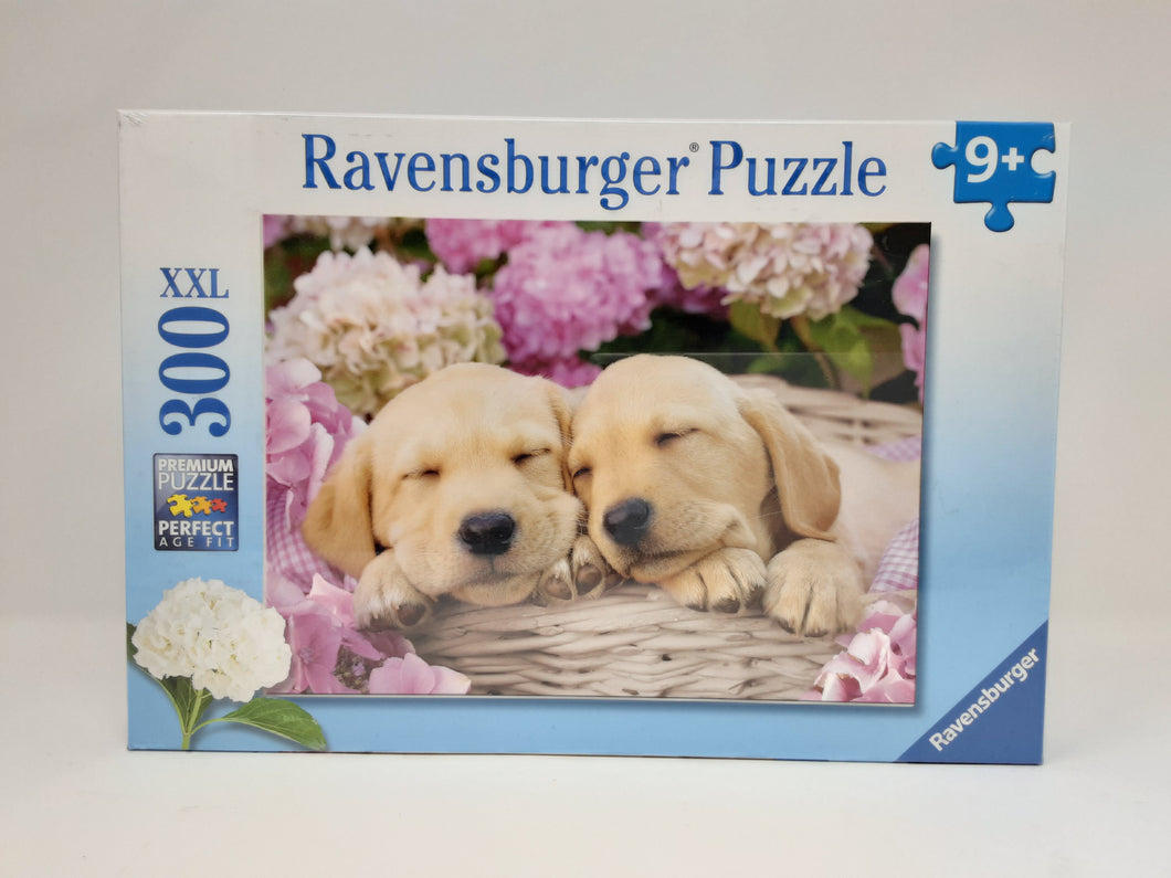 Sweet Dogs in a Basket 300 XL jigsaw puzzle