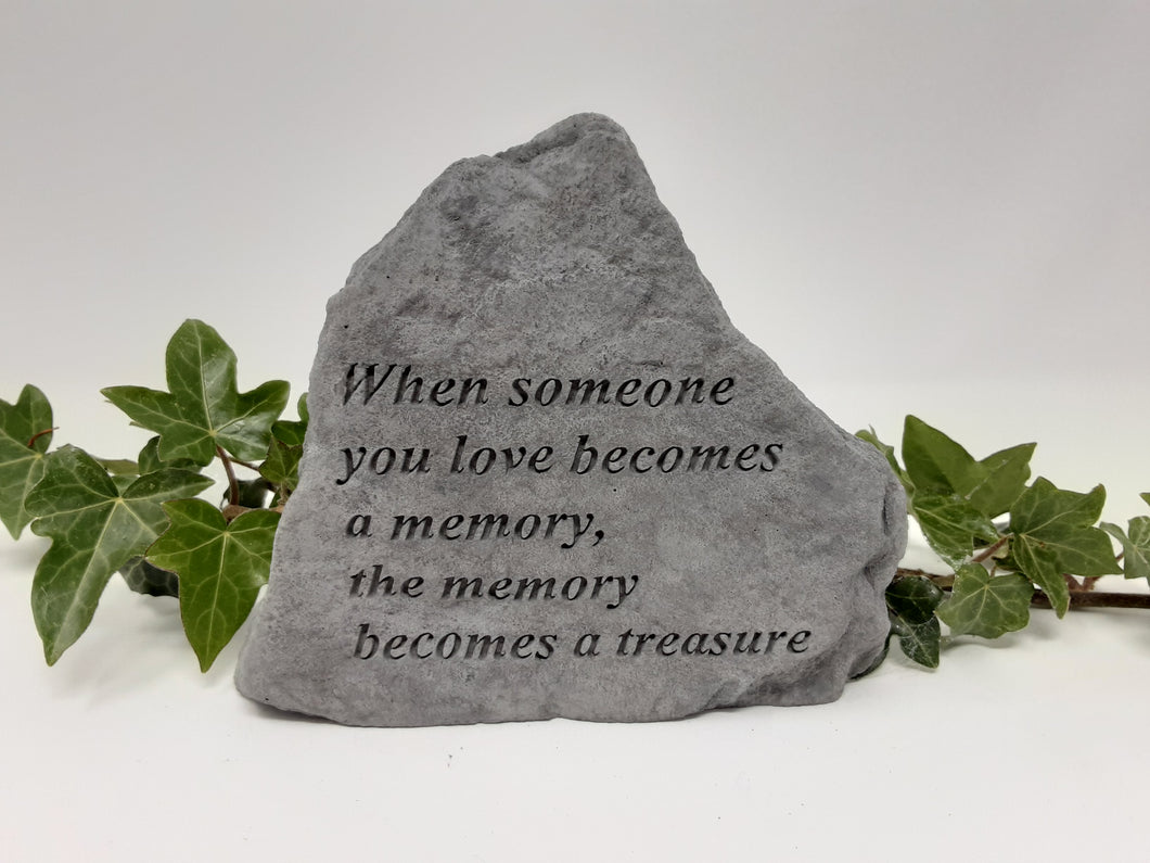 Stone Remembrance  Plaque with verse