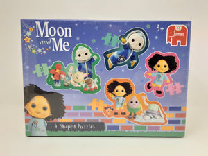 MOON AND ME – 4 IN 1 SHAPED PUZZLES