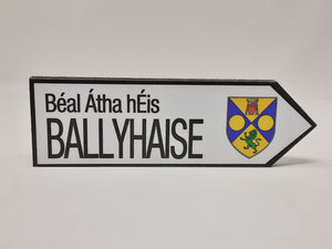 Wooden Ballyhaise Sign