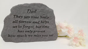 Stone Remembrance Plaque for Dad