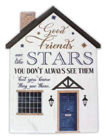 Porcelain plaque - good friends