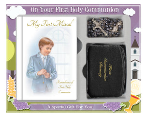 Communion Gift Set/Boy/Rosary/Purse