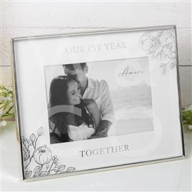 "1ST YEAR TOGETHER - 7"" x 5"" Photo Frame"