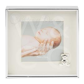 "3"" X 3"" - SILVER PLATED BOX FRAME - CHRISTENING DAY"