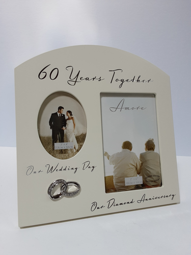 Amore 60th Anniversary Cream Frame