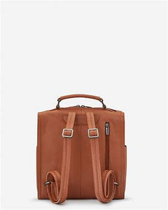 GRAYSON TAN LEATHER BACKPACK