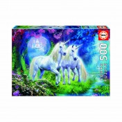 Educa Borras - Unicorns in the Forest 500 piece Jigsaw Puzzle