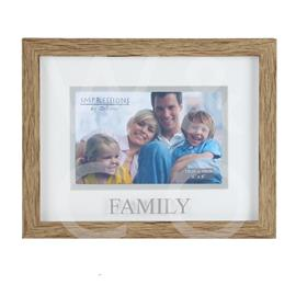 Natural Wood Effect Photo Frame - Family