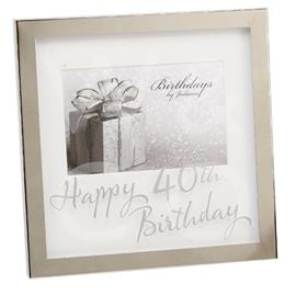 Happy 40th Birthday Photo Frame