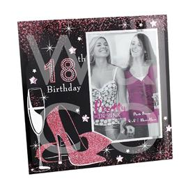 PRETTY IN PINK PHOTO FRAME - 18TH BIRTHDAY