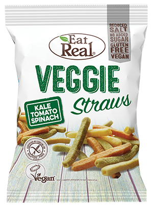 Eat Real Veggie Kale Straws - Kale, Tomato and Spinach