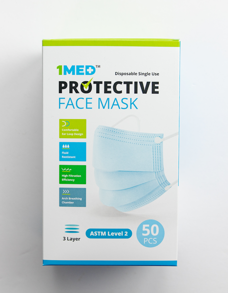 3 Ply Level 2 Masks Box (50 Masks) Made in USA