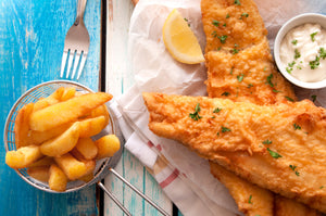 BEER BATTERED FLATHEAD & CHIPS