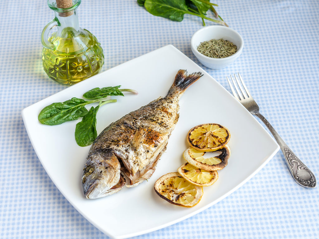 MEDITERRANEAN BBQ WHOLE BABY SNAPPER