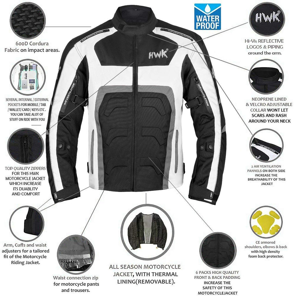 All-Black, X-Large Motorcycle Jacket For Men Cordura Motorbike Racing Biker Riding Breathable CE Armored Waterproof All-Weather