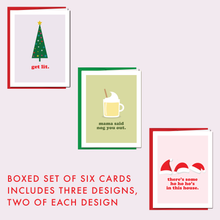 Load image into Gallery viewer, MIXTAPE CHRISTMAS CLASSICS: Boxed Set of 6 Cards