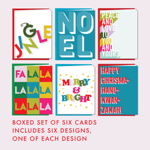 Load image into Gallery viewer, LET'S JINGLE: Boxed Set of 6 Cards