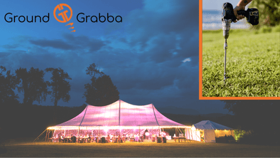 Weddings parties and more with GroundGrabba ground anchors