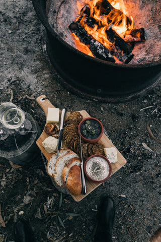 Deliciously different, a camping charcuterie board