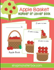 Apple Basket Number or Letter Recognition Book