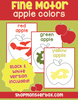 Fine Motor Apple Coloring Worksheets