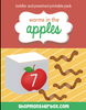 Worms and Apples Counting Printable