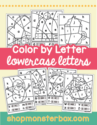 Winter Color by Letter Lowercase Letters