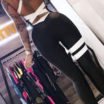 Backless Black Striped Workout Fitness Clothing-FitnessLab
