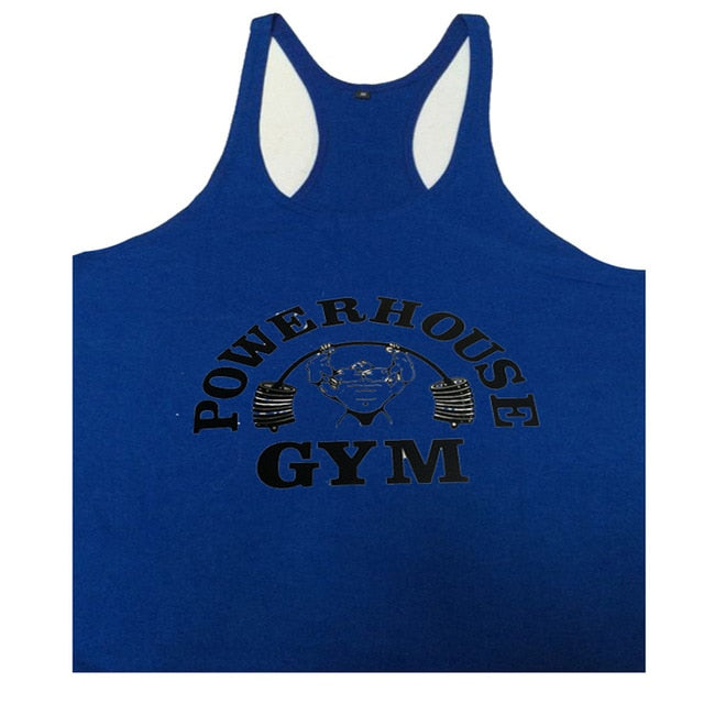 2020 fashion Singlets Mens Tank Tops Bodybuilding POWERHOUSE Fitness Men's gyms stringer Stringer Tank Top Brand Clothes