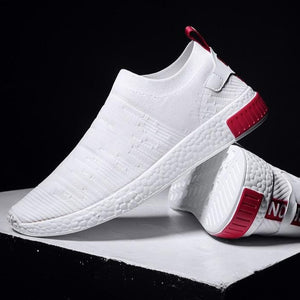 White Shoes Men Sneakers Without Lace-FitnessLab
