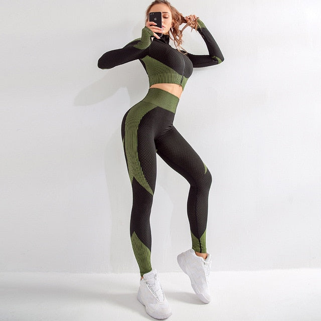 Long Sleeve Tracksuit 2 piece-FitnessLab