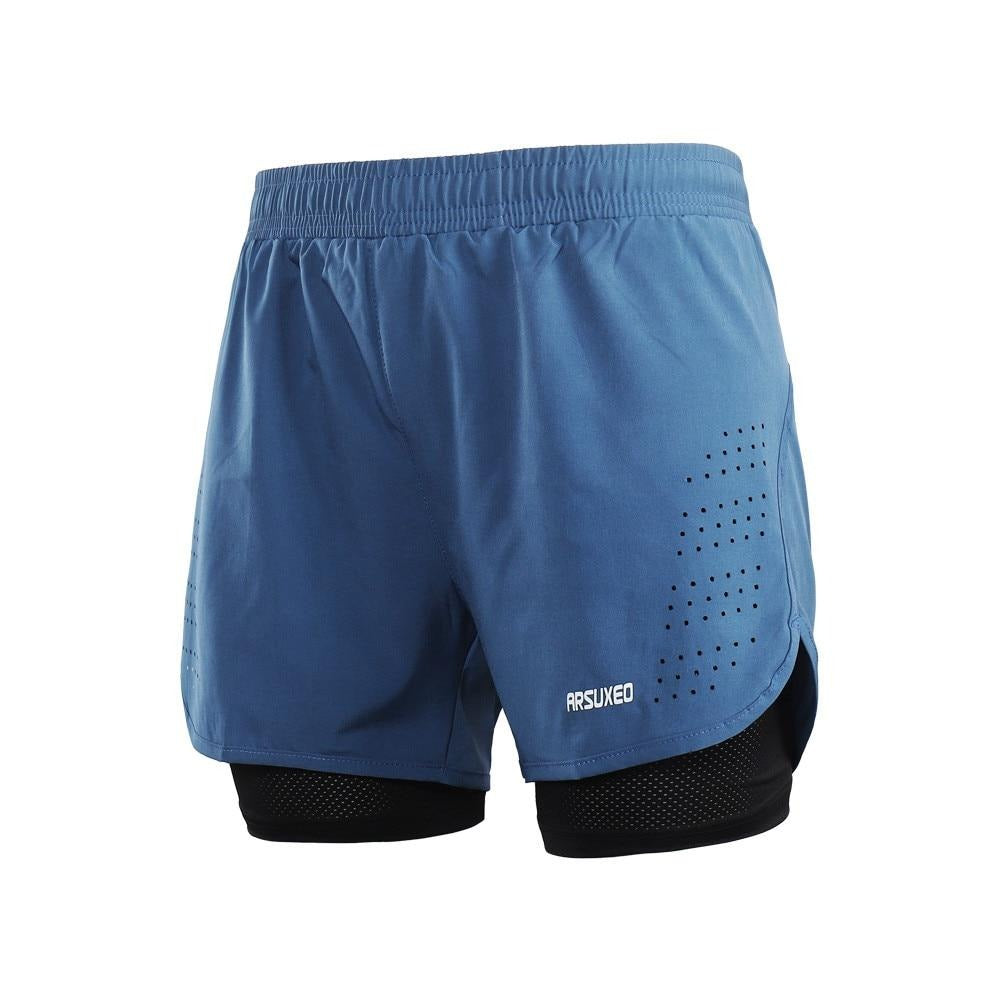 2-in-1 Men's Running Shorts with Waist-FitnessLab