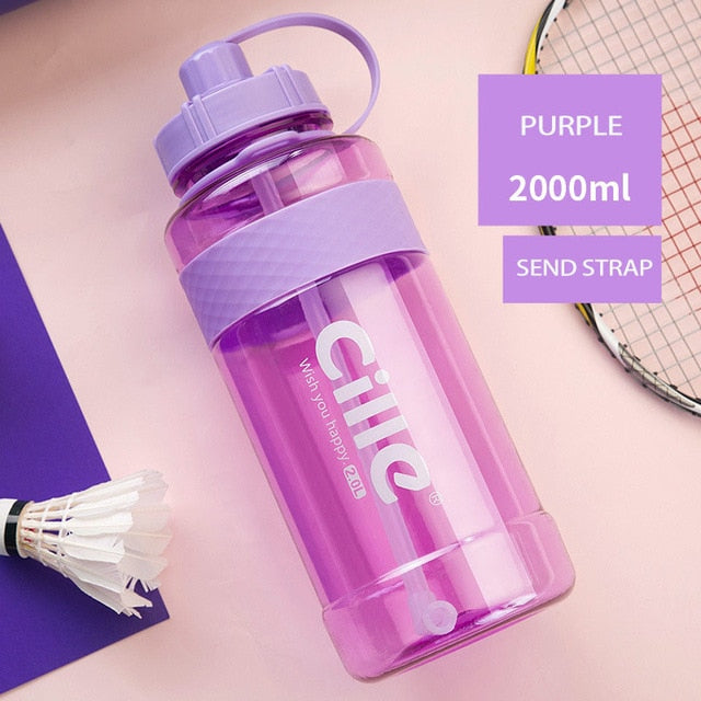 1L 2L 3L Large Capacity Water Bottles-FitnessLab