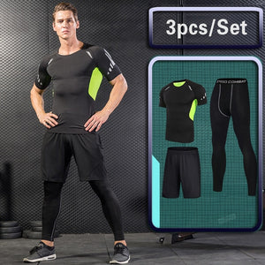 Gym Tight Running Set for Men's-FitnessLab