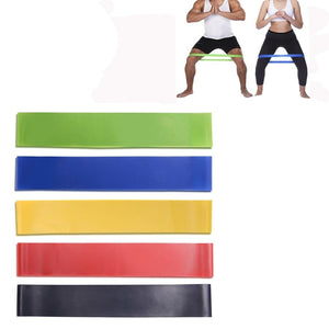 5 Colors Yoga Resistance Rubber Bands-FitnessLab