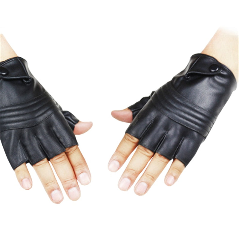 Half Finger Tactical Gloves PU Leather-FitnessLab