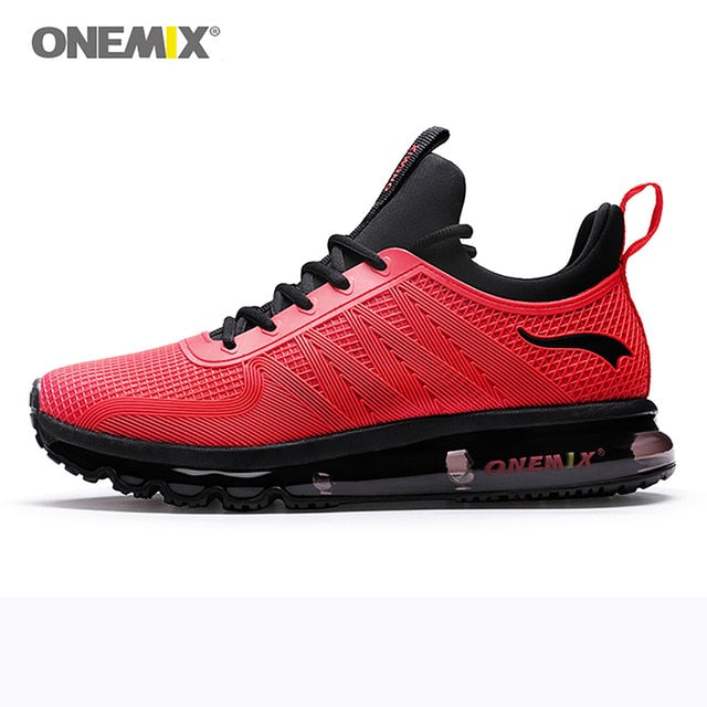 ONEMIX Men's Running Shoes High Top Air Cushion Trail Sport Shoe Outdoor Jogging Tennis Sports Fitness Breathable Man Sneakers