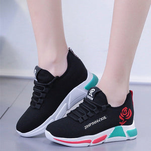 New Women'S Fashion Sneakers Sport Shoes Fitness Cotton Breathable Women Running Outdoor Sneakers Loafers Shoes Zapatos De Mujer