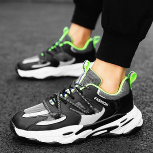 Men's Casual Shoes Classic Thick bottom Shoes Men Fashion Sneakers Lace-up Fitness Shoes Men Vulcanize Shoes Trend Jogging Shoes