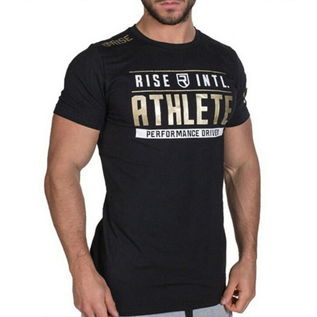 New Fashion Fitness  Shirts male